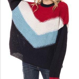 Oversized Colorblock Sweater